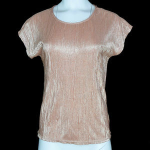 NY Collection Womens Crinkle Tunic Top New